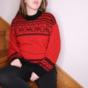 Vintage American Pride Red Sweater Crew Neck